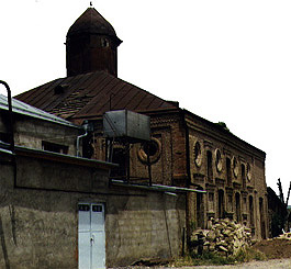 Exterior of the Karui Synagogue in Kuba, Azerbaijan.