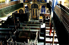 Interior of early 20th C. Temple Synagogue in Medias, Romania.