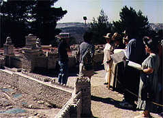 Participants visiting the Second Temple model in Jerusalem.