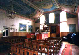 Interior of the synagogue in Surami, Georgia.