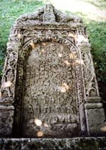 A tombstone, the cemetery in Zolotoi Potok, 1633