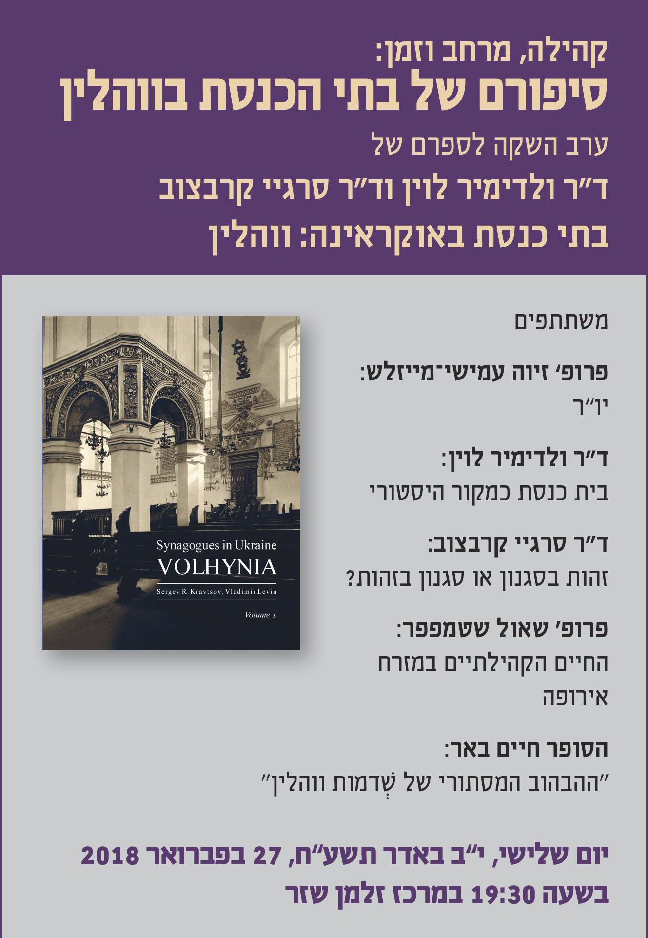 Stories of the Synagogues of Volhynia